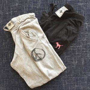 Victoria Secret Relaxed Fit Sweatpants - Set of 2